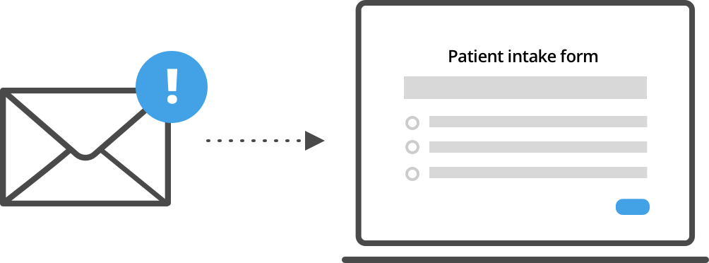 Graphic of a sample digital patient intake form.